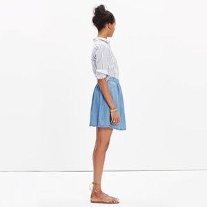 Madewell Faded Indigo Chambray Skirt 2 Lyocell